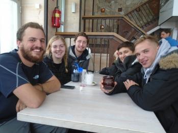 Right-Left: Me, Maggie, Josh, Natalie, Marius